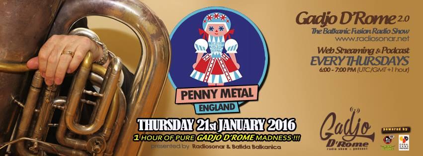 Gadjo D'Rome 2.0 puntata 5.08 – 21 gennaio 2016 – Penny Metal (UK)