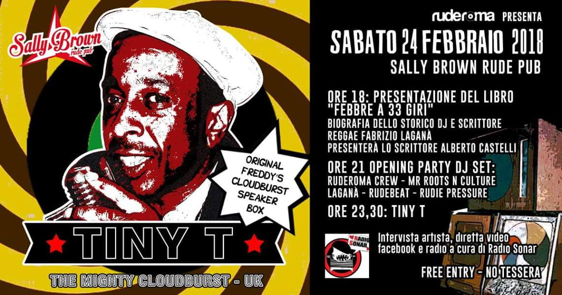 "Presentazione di ""Febbre a 33 Giri"" con Fabrizio Laganà e Alberto Castelli – The Mighty Tiny T at Sally Brown"