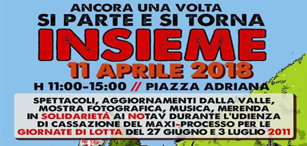Roma: presidio Notav alla Corte di Cassazione