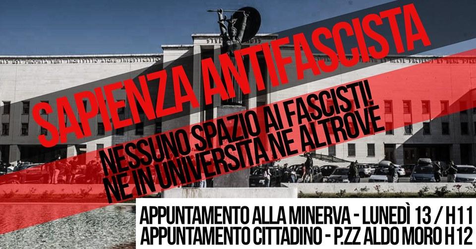 Sapienza Antifascista, il Fascismo non è una opinione