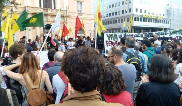 A Roma in piazza contro l'invasione turca del Kurdistan
