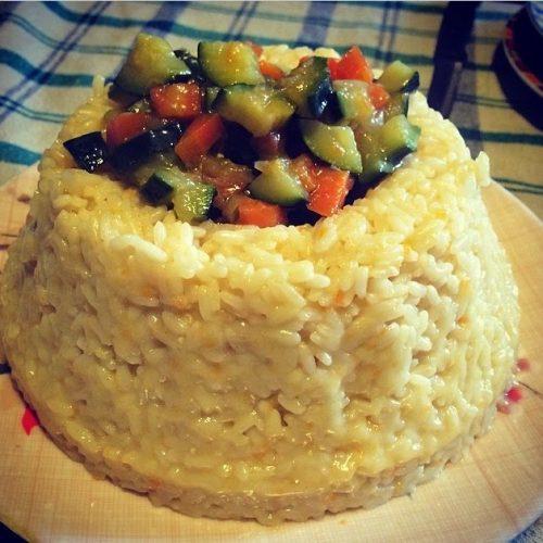 Pillole di Mangiaradio – Corona di riso con verdure