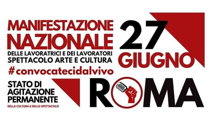 Convocateci dal Vivo: il 27 Giugno Manifestazione a Roma