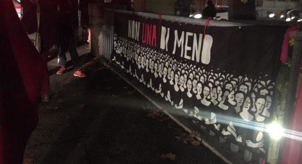 Sul Ponte Giorgiana Masi: contro i femminicidi e le narrazioni tossiche
