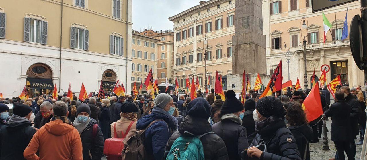 Prosegue la vertenza dei lavoratori Alitalia – Report dalla manifestazione del 25 gennaio.
