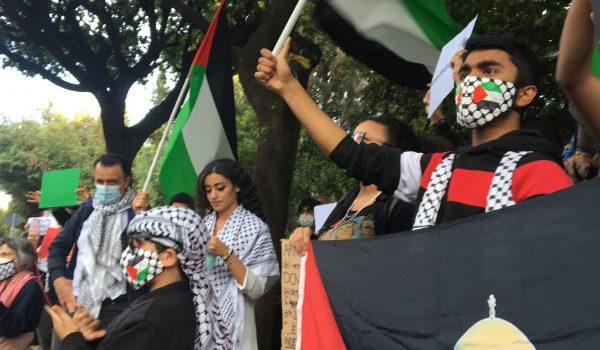 Presidio per la Palestina alla sede della RAI
