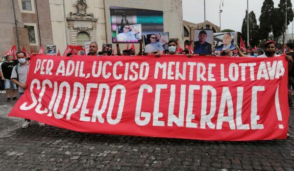 Adil Belakhdim: Manifestazione a Roma